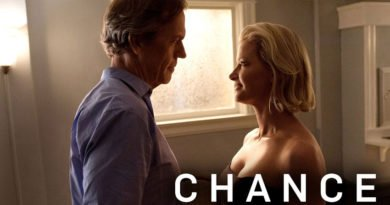 Gretchen Mol as Jaclyn Blackstone, Hugh Laurie as Eldon Chance - Chance_Season 1, Episode 3, Photo Credit: David Moir/Hulu