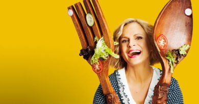 Sedaris delivers a wink and a nod to homemaking shows of yore on truTV's 'At Home'