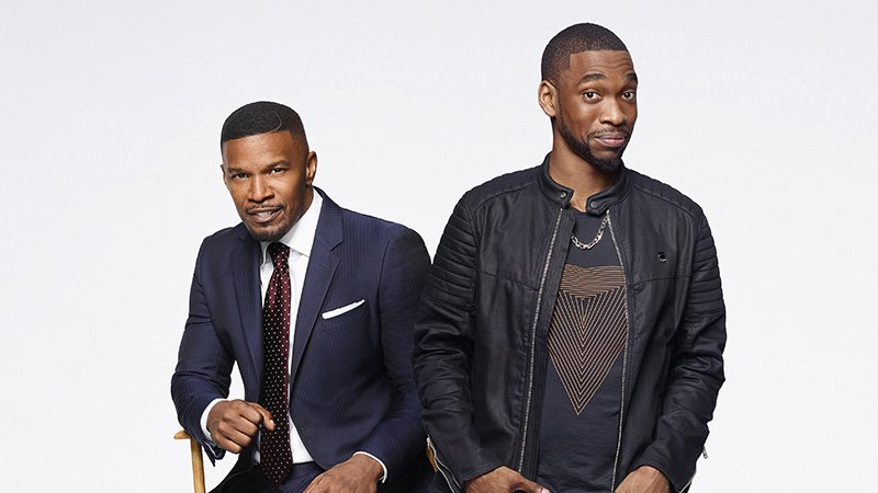 """Jay Pharoah (right) plays a version of Jamie Foxx in """"White Famous,"""" premiering Sunday, Oct.15, on Showtime."""