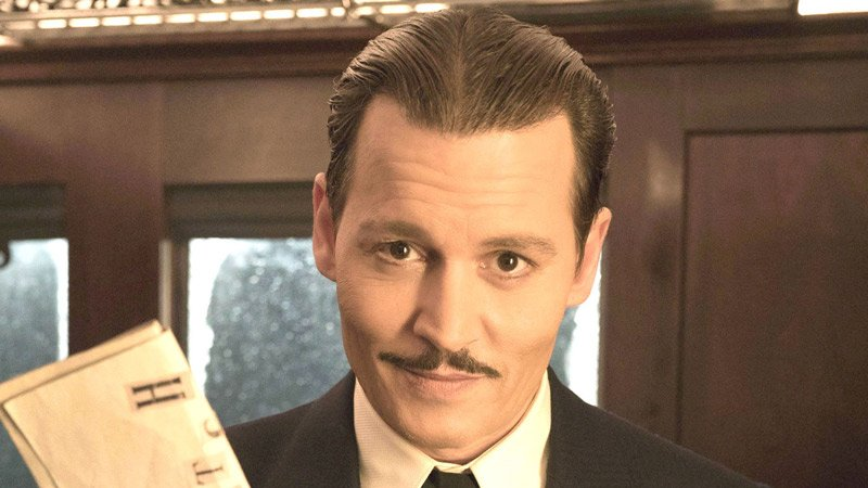 "Johnny Depp in ""Murder in the Orient Express"""