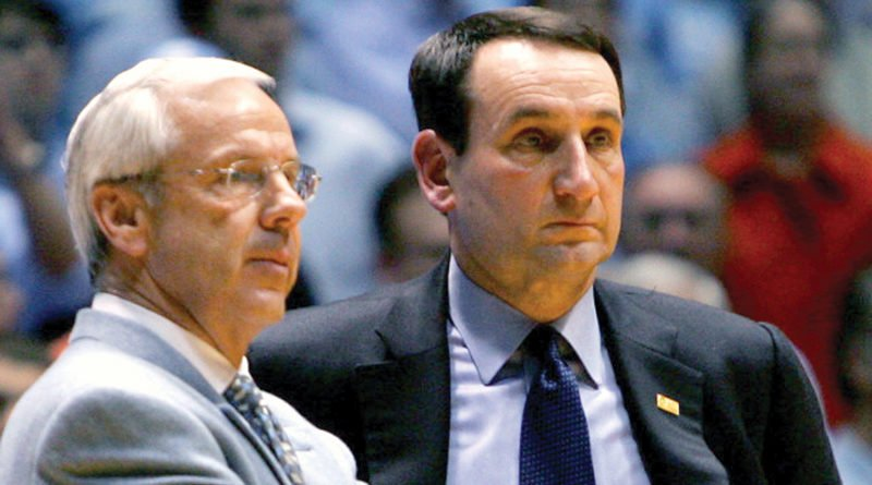 Roy Williams and Mike Krzyzewski