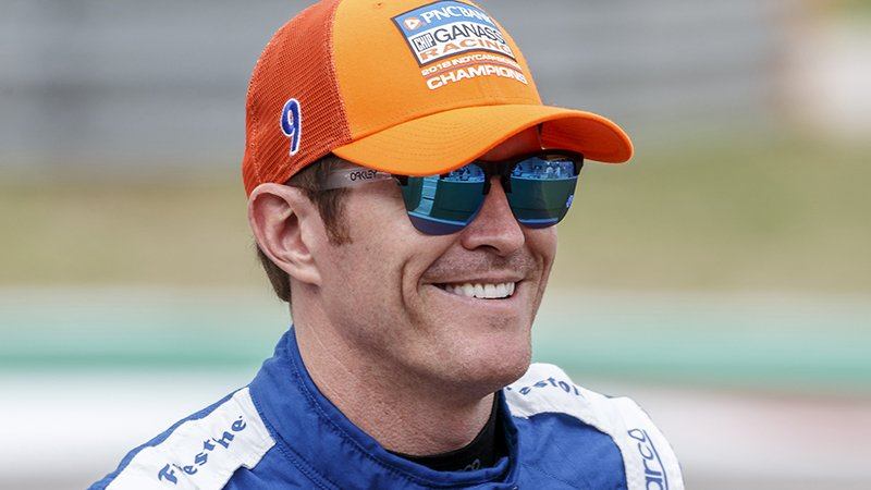 Dixon looks to gain distance on the field at Indy