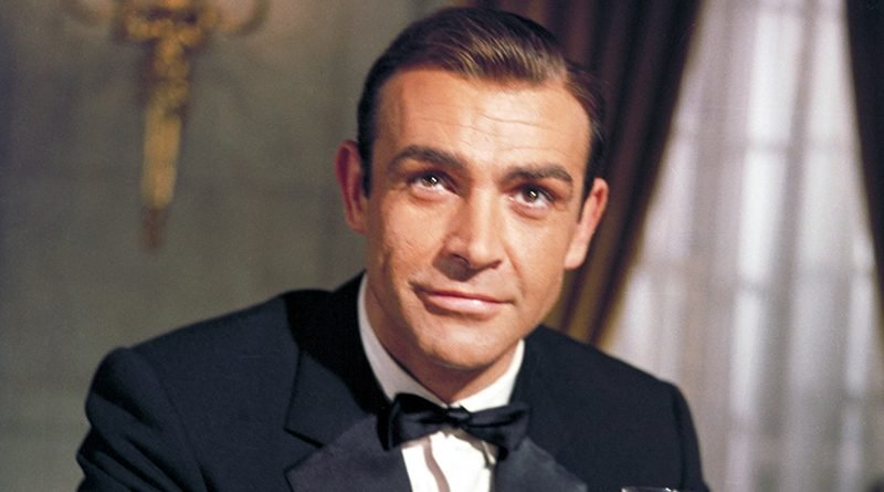 Sean Connery glitters as James Bond in 'Goldfinger'